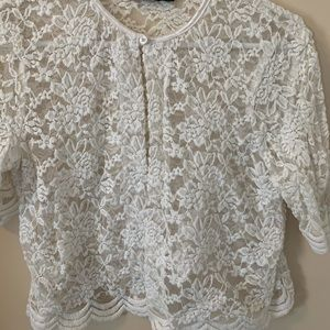 Connected Sheer pace 3/4 sleeve overlay size S